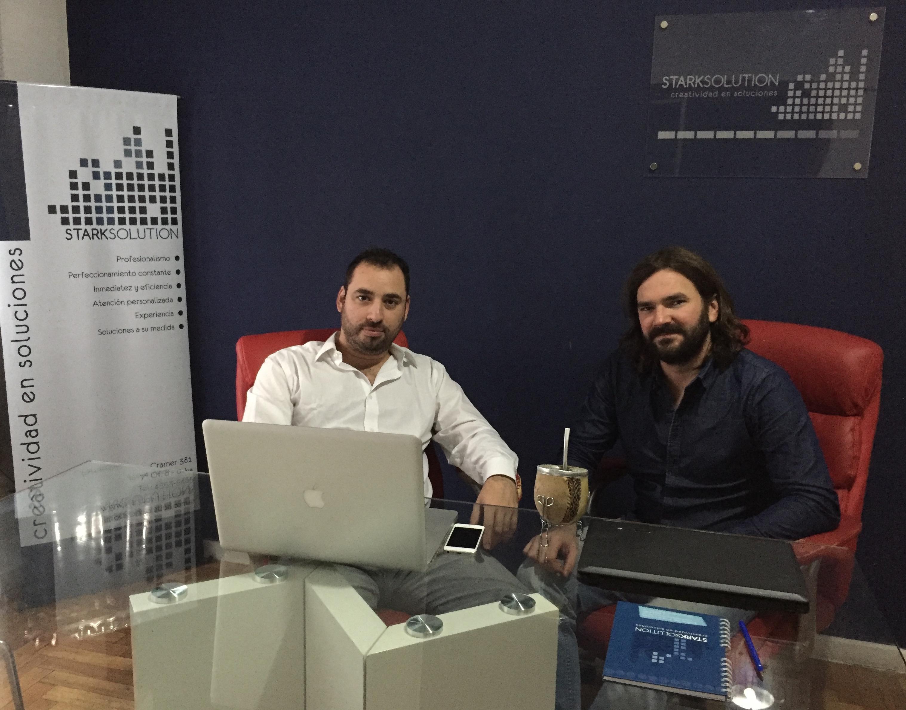 Martin Sosa y José Boiero, directivos de Stark Solution