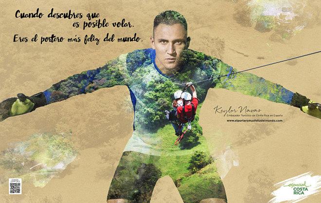 Keylor Navas promociona Costa Rica en España