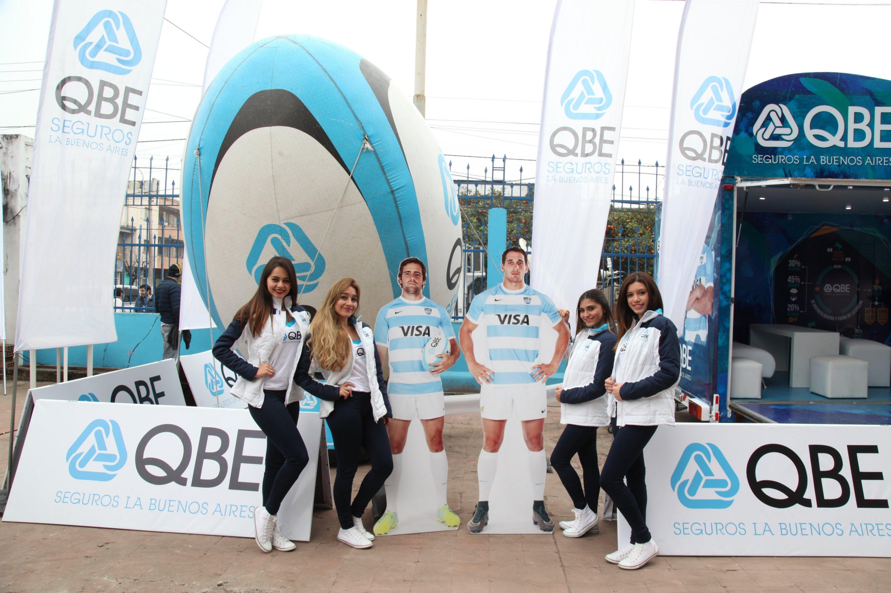 QBE Seguros La Buenos Aires junto a Los Pumas en su gira por el país