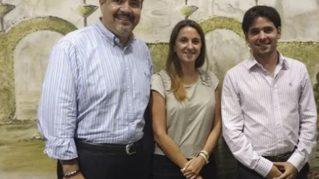 Victor Cortes Algara, Denise Berger y Marcelo Guglielmucci, de Claro Argentina.