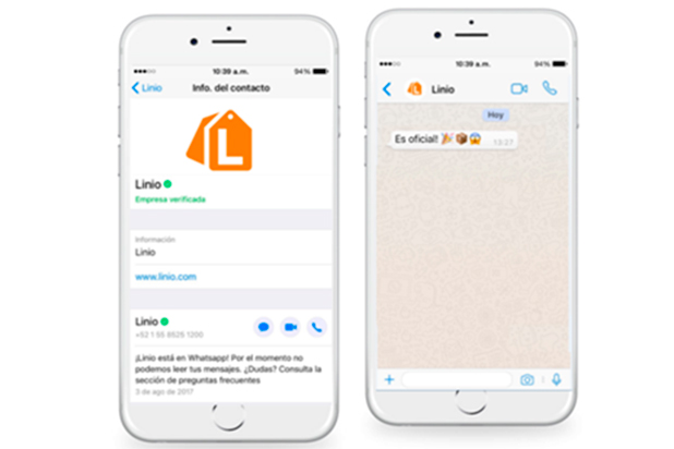 Linio WhatsApp Enterprise