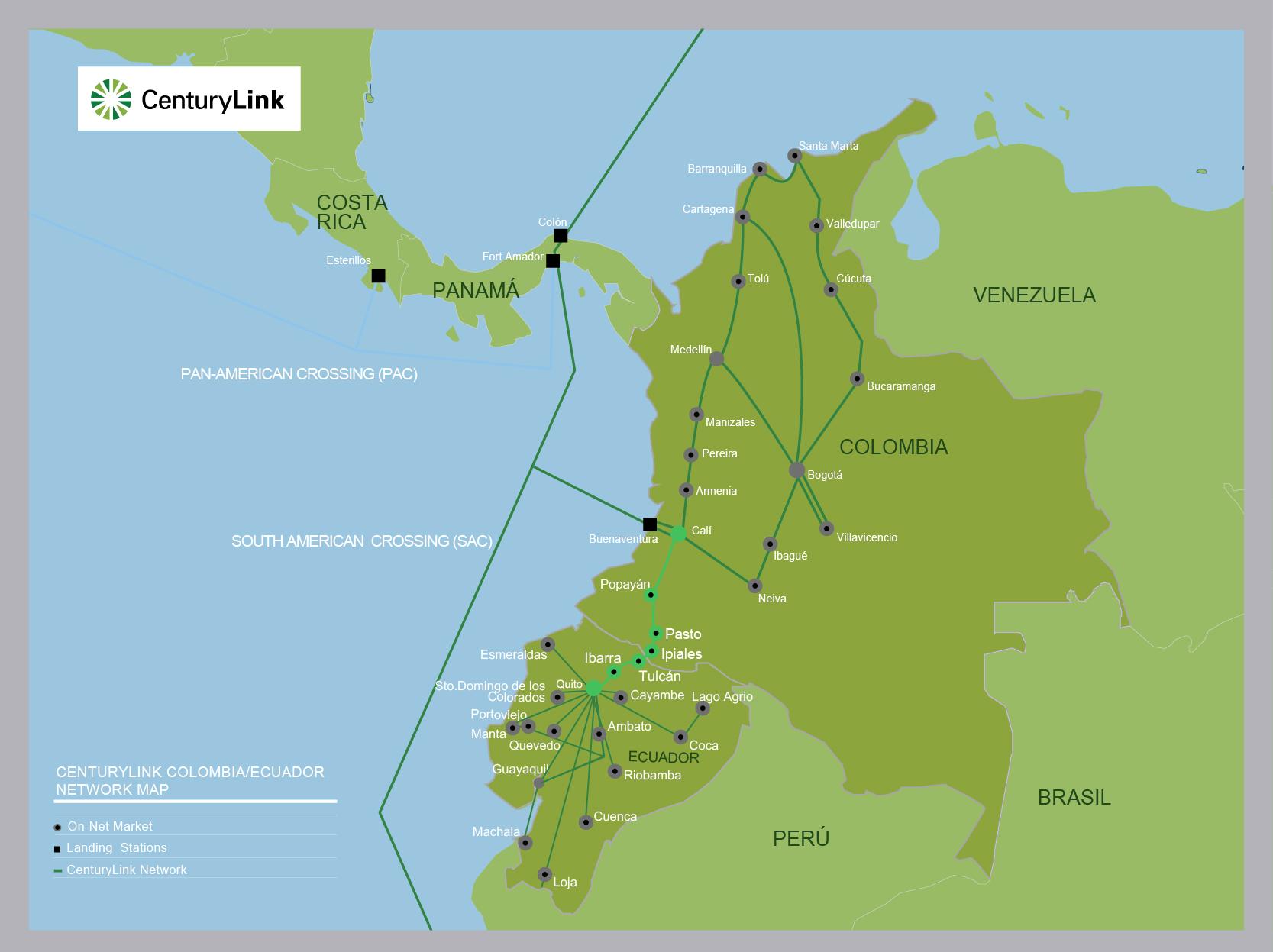 CenturyLink LATAM_Networkmaps_Ecuador_Colombia