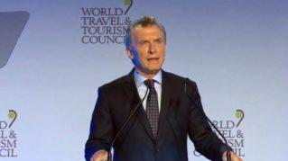 Mauricio Macri, en el WTTC 2018