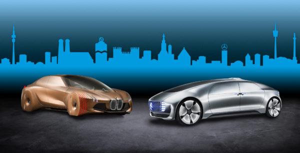 Daimler AG und BMW Group starten langfristige Entwicklungskooperation für automatisiertes Fahren.  Daimler AG and BMW Group start long-term cooperation for automated driving.